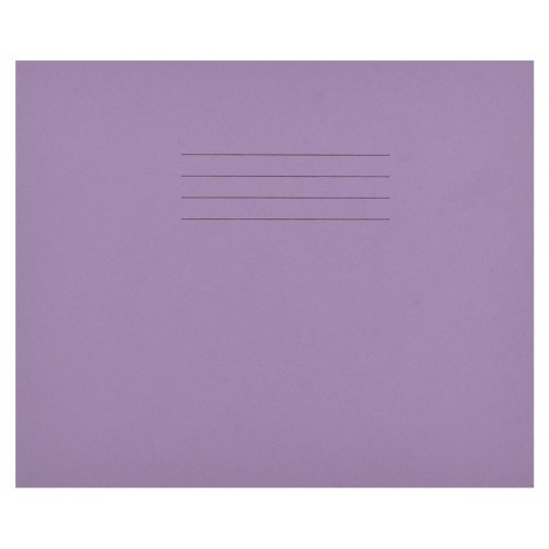 School Learn to Write Books 6-1/2x8 32 Pages 4mm Blue Ruled Centred on 15mm Red Ruled - Purple [Pack 100]