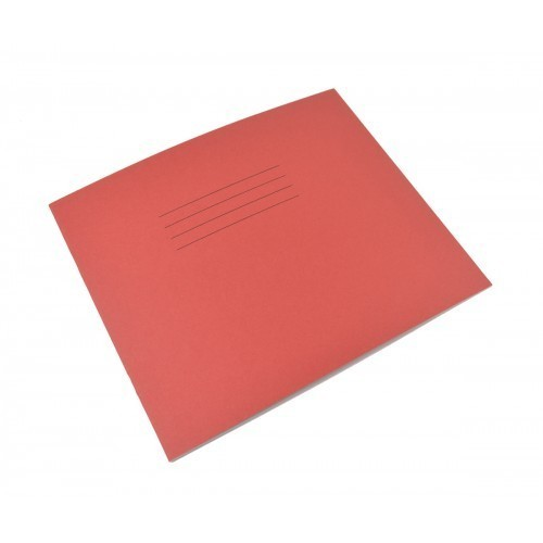 School Learn to Write Books 6-1/2x8 32 Pages 6mm Blue Ruled Centred on 20mm Red Ruled - Red [Pack 100]