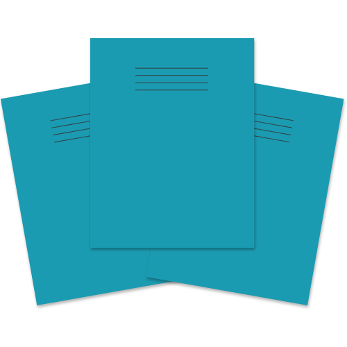 School Exercise Book 9x7 48 Pages 8mm Ruled & Margin Light Blue [Pack 100]