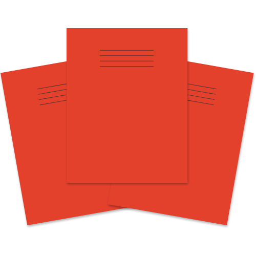 School Exercise Book 9x7 48 Pages 8mm Ruled & Margin Red [Pack 100]