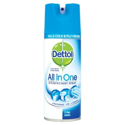 School Antibacterial All-in-One Disinfectant Sanitiser Spray 400ml - Dettol [Pack 1]