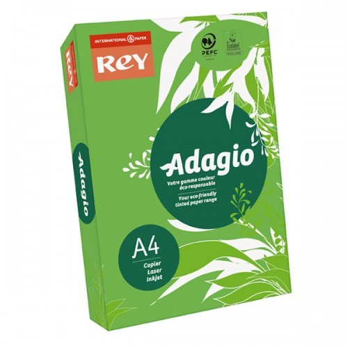 School Paper A4 Intense Deep Green Ream-Wrapped 80gsm [Pack 500]