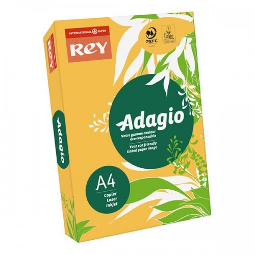 School Paper A4 Intense Gold Ream-Wrapped 80gsm [Pack 500]