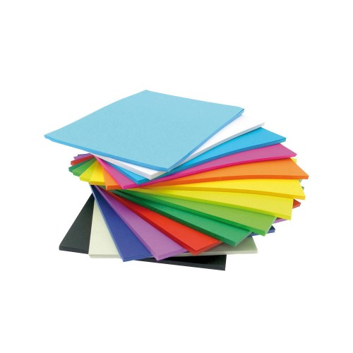 School Paper 500 x A4 Vivid Assorted 80gsm [Pack 1]