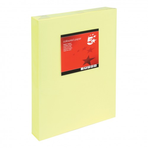 School Paper A3 Pastel Canary Yellow Ream-Wrapped 80gsm [Pack 500]
