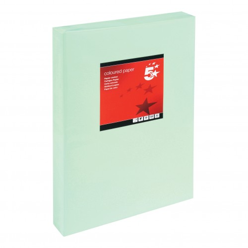School Paper A3 Pastel Green Ream-Wrapped 80gsm [Pack 500]