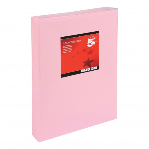 School Paper A3 Pastel Pink Ream-Wrapped 80gsm [Pack 500]