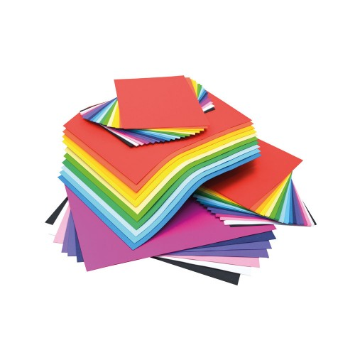 School Card 125 x A3 / 250 x A4 Vivid Assorted 125gsm [Pack 1]