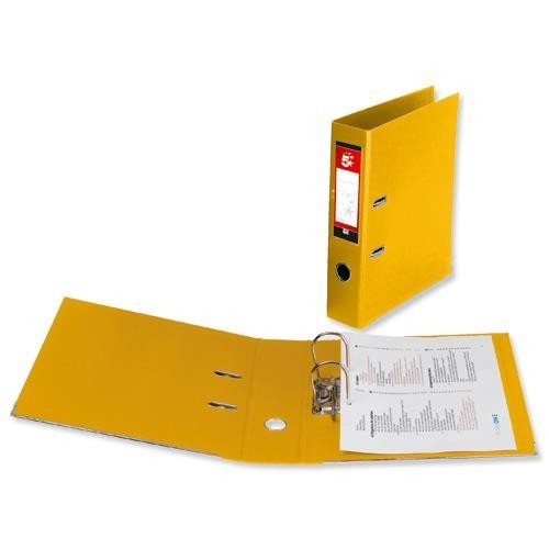 School Lever Arch File A4 Polypropylene Yellow [Pack 10]