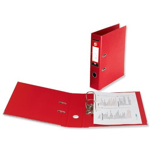 School Lever Arch File A4 Polypropylene Red [Pack 10]