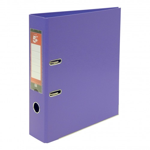 School Lever Arch File A4 Polypropylene Purple [Pack 10]