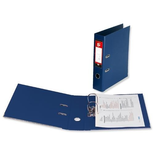 School Lever Arch File A4 Polypropylene Blue [Pack 10]