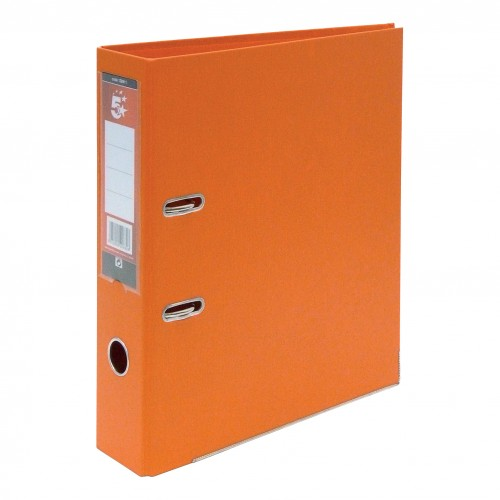 School Lever Arch File A4 Polypropylene Orange [Pack 10]