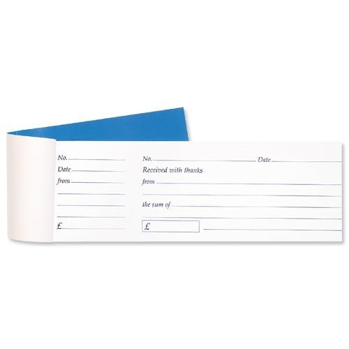School Cash Receipt Book Tear Off 80 Receipts With Counterfoil 79x202mm [Pack 1]