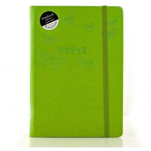 School Notebook Soft Touch Casebound Pastel A5 Ruled Teacher [Pack 4]