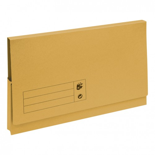 School Document Wallets Full Flap Foolscap Yellow [Pack 50]