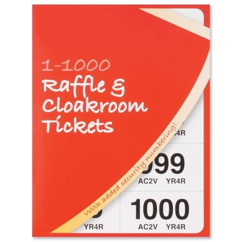 School Raffle Tickets 1-1000 6 Colours [Pack 6]