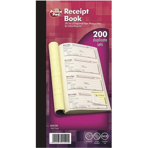 School Receipt Book 200 Duplicate Carbonless Sequentially Numbered [Pack 1]