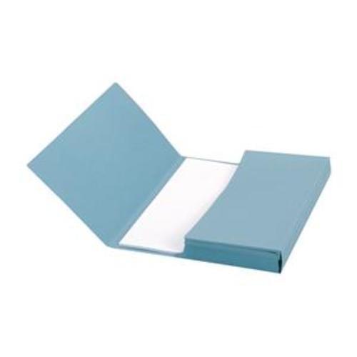 School Document Wallets Half Flap Foolscap Blue [Pack 50]