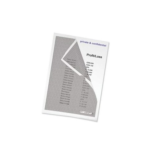 School Security Camouflaged Cut Flush Folders A4 Clear [Pack 10]