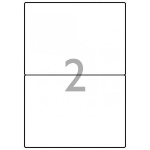 School Multipurpose Labels 2 per Sheet 199.6x143.5mm White [200 Labels]