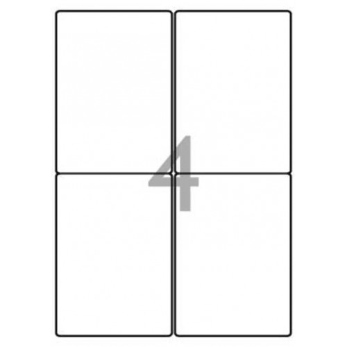 School Multipurpose Labels 4 per Sheet 139x99.1mm White [400 Labels]