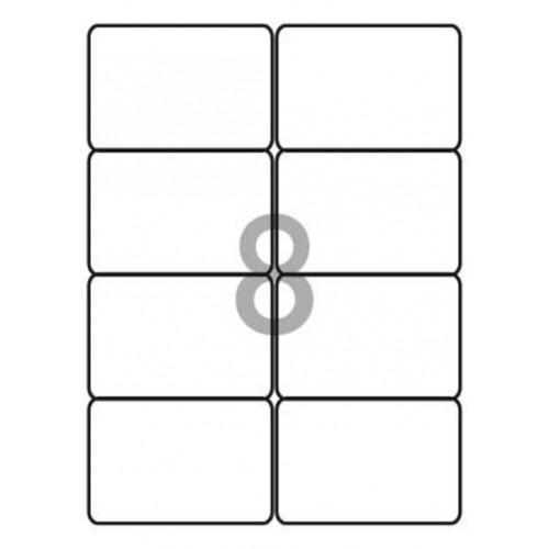 School Multipurpose Labels 8 per Sheet 99.1x67.7mm White [800 Labels]