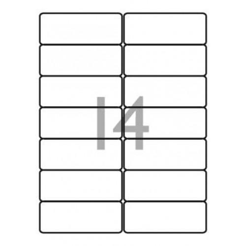 School Multipurpose Labels 14 per Sheet 99.1x38.1mm White [1400 Labels]