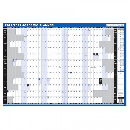 School 2021/22 Academic Year Wall Planner 909x610mm [Pack 1]