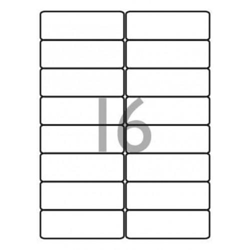 School Multipurpose Labels 16 per Sheet 99.1x34mm White [1600 Labels]