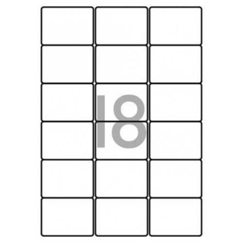 School Multipurpose Labels 18 per Sheet 63.5x46.6mm White [1800 Labels]