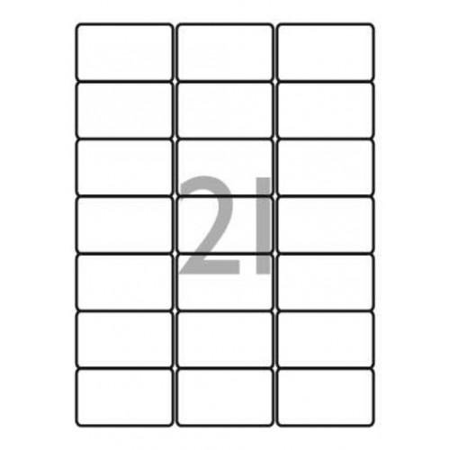 School Multipurpose Labels 21 per Sheet 63.5x38.1mm White [2100 Labels]