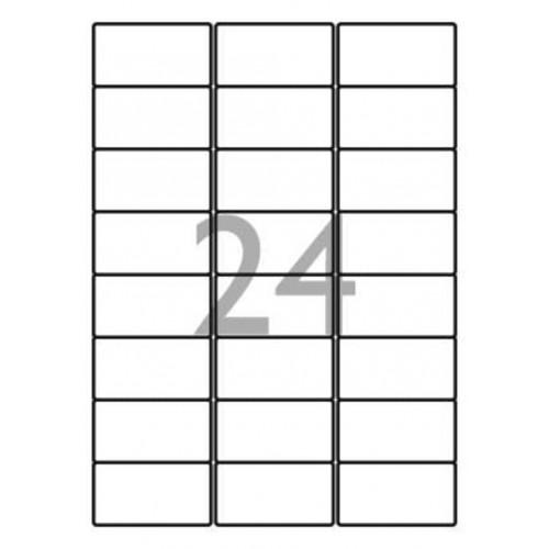 School Multipurpose Labels 24 per Sheet 64x34mm White [2400 Labels]