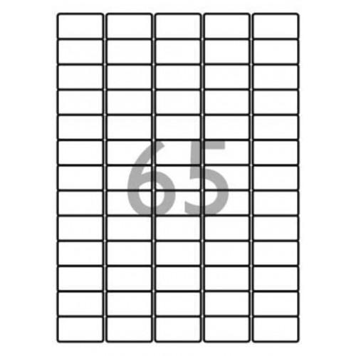 School Multipurpose Labels 65 per Sheet 38.1x21.2mm White [6500 Labels]