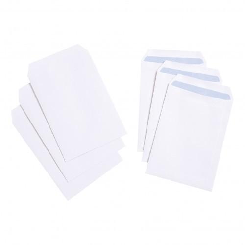 School Envelopes Press Seal Pocket 90gsm C5 White [Pack 500]