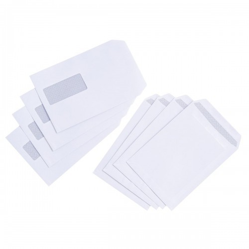 School Envelopes Press Seal Pocket Window 90gsm C5 White [Pack 500]