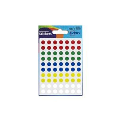 School Labels Round 8mm Assorted Colours [560 Labels]