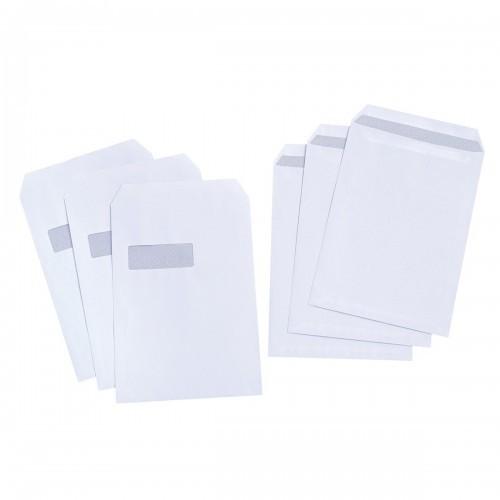 School Envelopes Press Seal Pocket Window 90gsm C4 White [Pack 250]