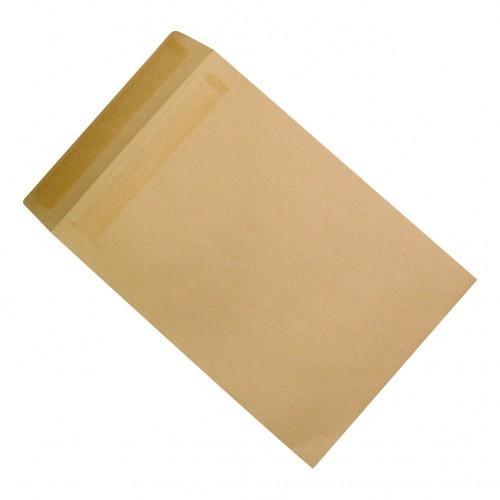 School Envelopes Press Seal Pocket 90gsm C4 Manilla [Pack 250]