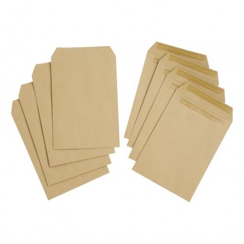 School Envelopes Press Seal Pocket 80gsm C5 Manilla [Pack 500]
