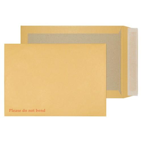 School Envelopes Board Backed Peel & Seal Pocket 120gsm C4 Manilla [Pack 125]