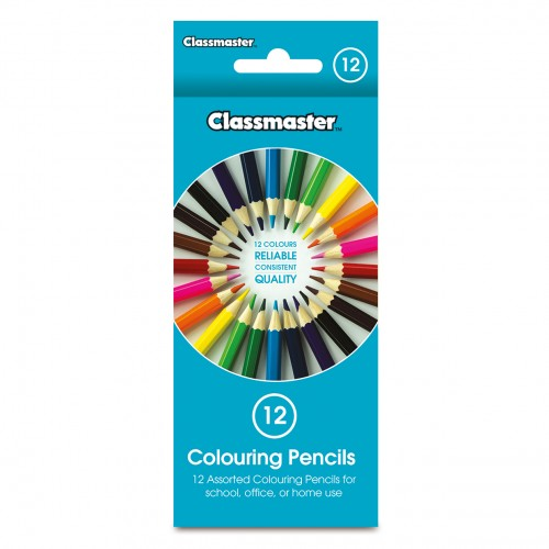 School Colouring Pencils Assorted [Pack 12]