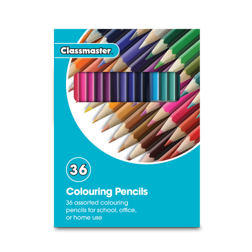 School Colouring Pencils Assorted [Pack 36]