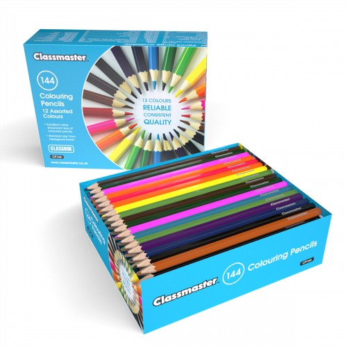 School Colouring Pencils Assorted [Pack 144]