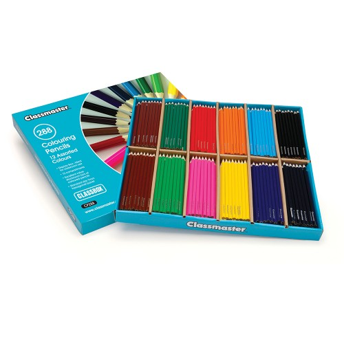 School Colouring Pencils Assorted [Pack 288]