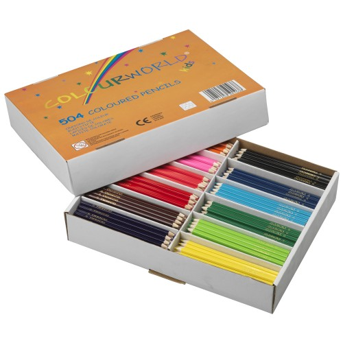 School Colouring Pencils Assorted [Pack 504]