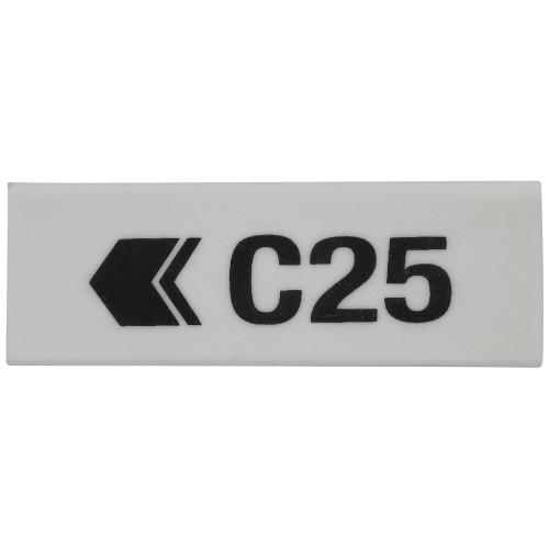 School White Eraser 63x21x11mm [Pack 20]