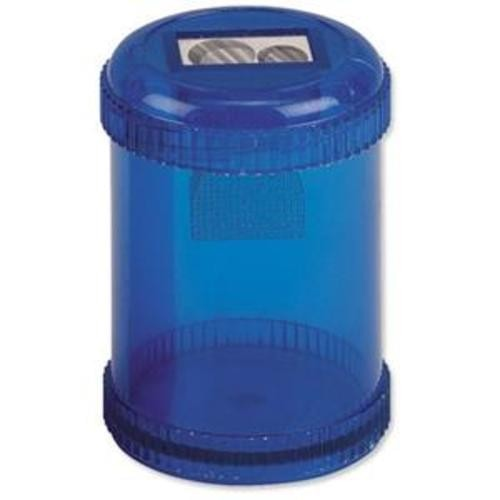 School Pencil Sharpener Plastic Canister Double Hole [Pack 10]