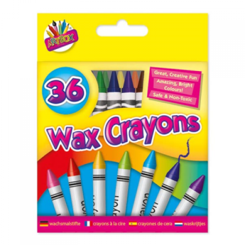 School Wax Crayons Assorted [Pack 36]
