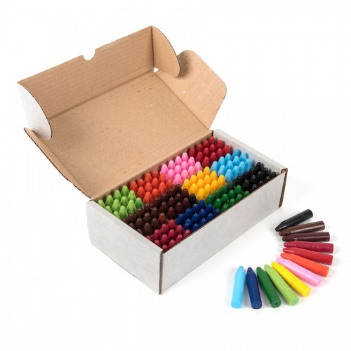 School Wax Crayons 65x10mm Assorted [Pack 144]